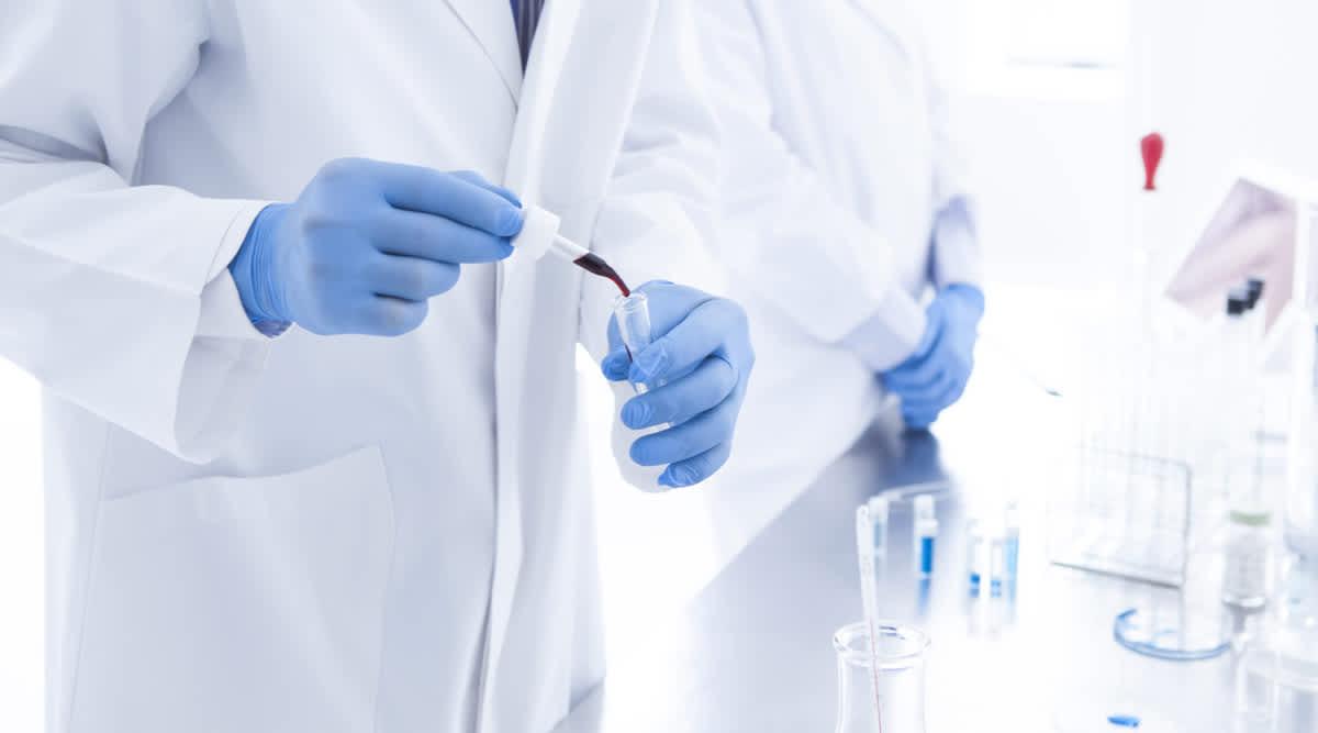 Blutanalyse im Labor